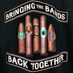 Tommy Bahama cigar bands graphic pool tee shirt